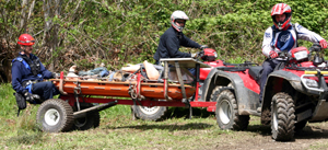 The East Pierce Technical Rescue Team uses specially-equipped ATVs to rescue hikers, hunters or other outdoor enthusiasts who become ill or injured in otherwise inaccessible areas.