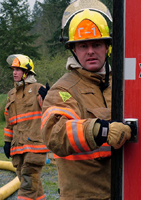 East Pierce volunteer recruits must attend a fire academy before being able to fight fires.